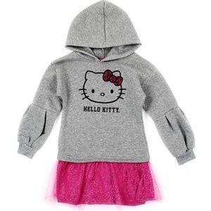 Hello Kitty Girls Fleece Dress. 2 Left